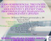 """Nueva edición del curso """"Prevención de las Violencias Machistas en Adolescentes y Jóvenes"""""""