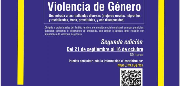 """Abierta la inscripción para la segunda edición del curso """"Violencia de Género: una mirada a las realidades diversas (mujeres rurales, migrantes y racializadas, trans, prostituidas y con discapacidad"""